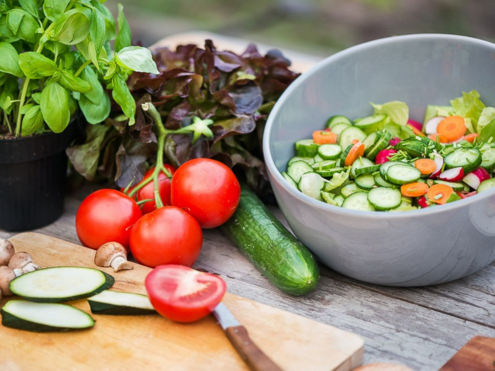 PHOTO: Fresh vegetables are visible on a cutting board in this stock photo.