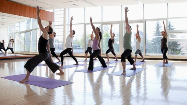PHOTO: The New Middle Age suggests exercises that promote balance, flexibility and strength, like yoga.