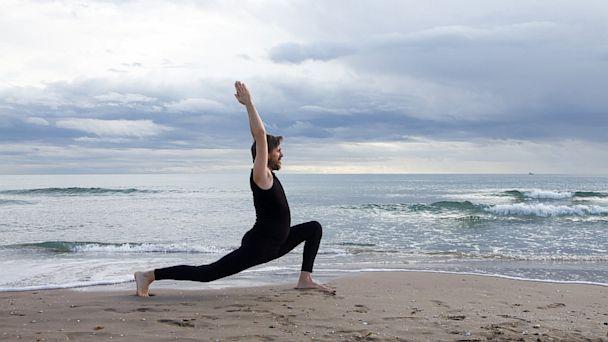 PHOTO: Yoga at the beach.
