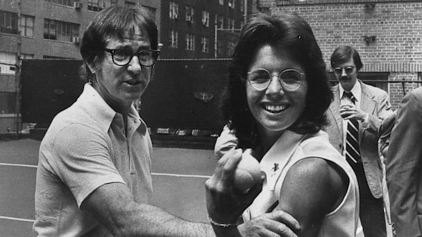 PHOTO: Bobby Riggs and Billie Jean King