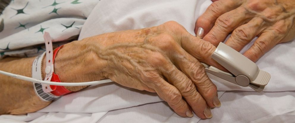 PHOTO:The hands of a senior woman in an undated stock image.