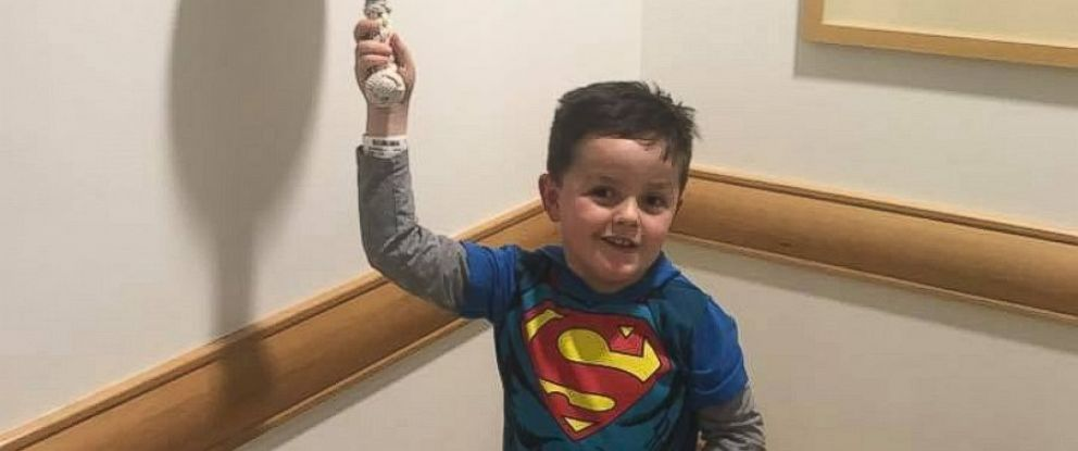 PHOTO: Jimmy Spagnolo has undergone treatment for a glioma or tumor of the brain or spine since he was 4 months old. Hes now 6 and a first grader. On Feb. 2, he rang a bell at Childrens Hospital of Pittsburgh to signal the end of treatment.