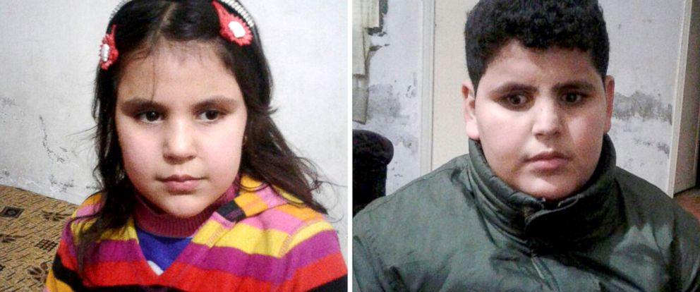 PHOTO: Jenan, left and Hamzah are slowly losing their eyesight and hoped to be settled in the U.S. for treatment.