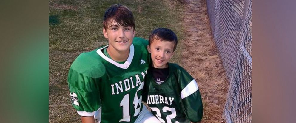 PHOTO: Ben Holloway, who is fighting a rare brain disorder, is pictured here on the football field of Murray County High School on May 15, 2015 in Chatsworth, Ga.