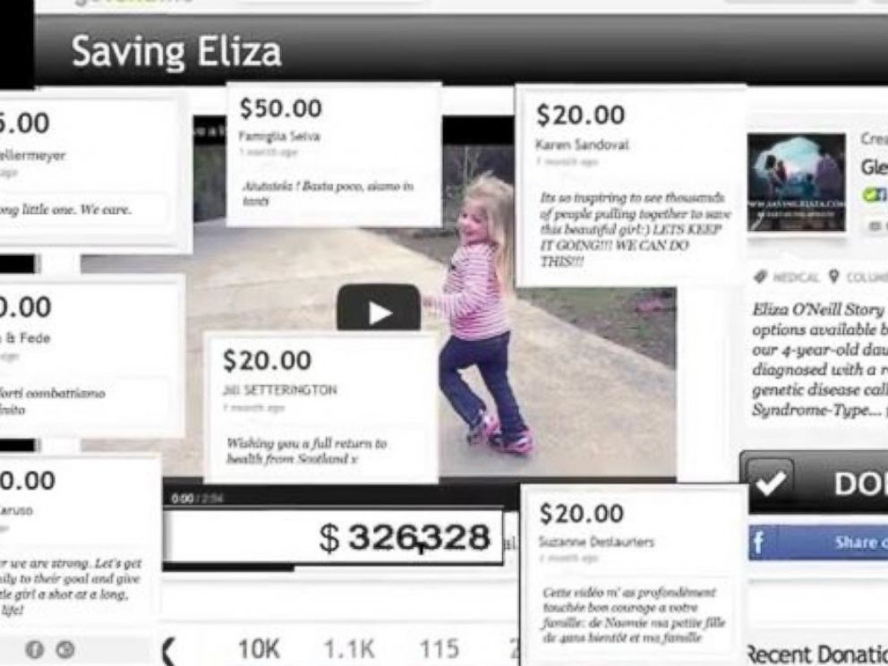 PHOTO: Eliza ONeill has a rare genetic disorder called Sanfilippo syndrome. Her family launched a YouTube video to promote a fundraising effort toward a cure.