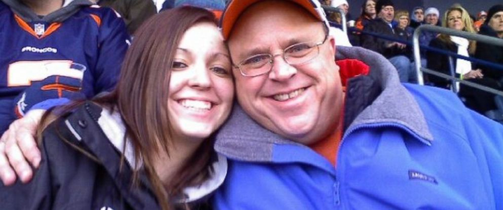 PHOTO: Tad and Alexa Johnson photographed together at a Broncos game. Their team lost, but it was still a wonderful day.
