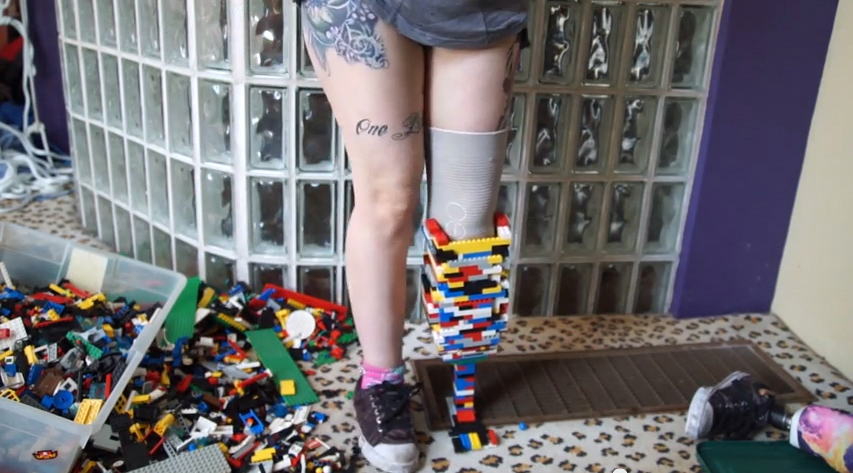 PHOTO: Christina Stephens built this prosthetic with Legos.