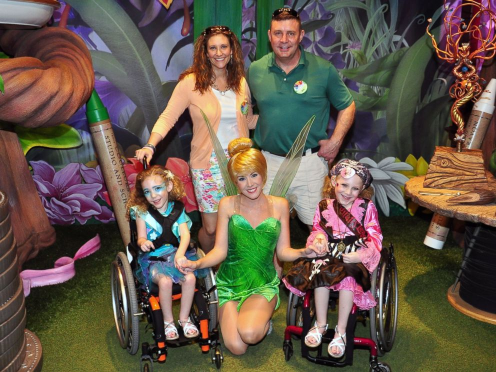 PHOTO: Sarah and Eric Kennedy with their daughters Brooke and Brielle at Disneyland.