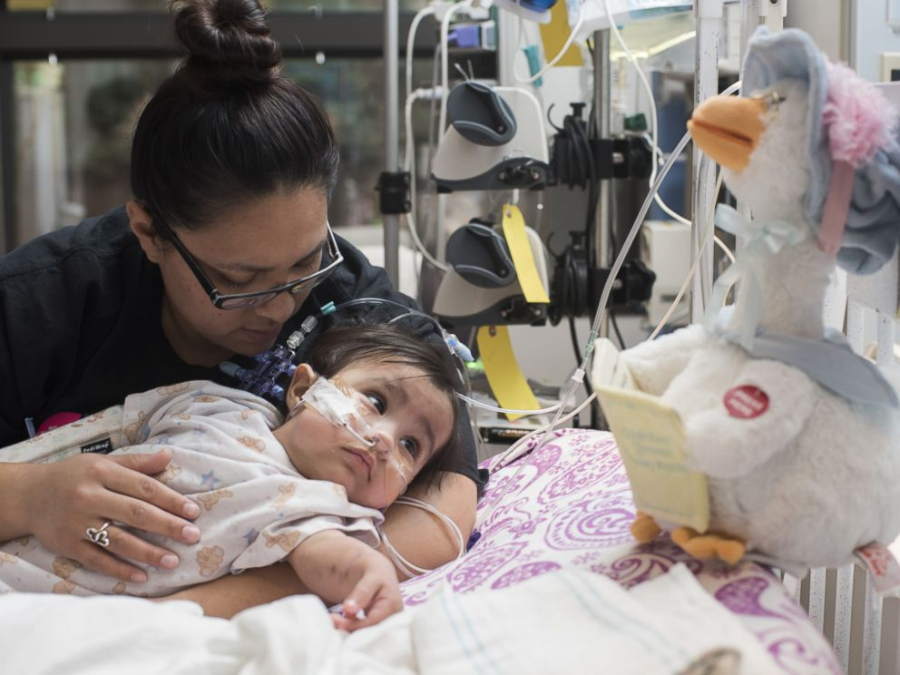 PHOTO: Days after her first birthday , Knatalye underwent surgery to remove the rods in her pelvis and also to add a gastrostomy button for her feedings.