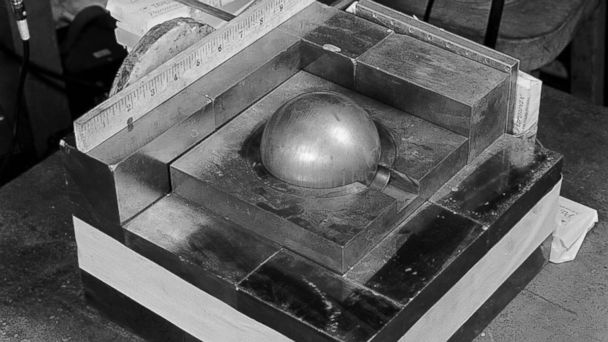 PHOTO: A model reproduction of the device Harry K. Daghlian, Jr. was using during the experiment that cost him his life.