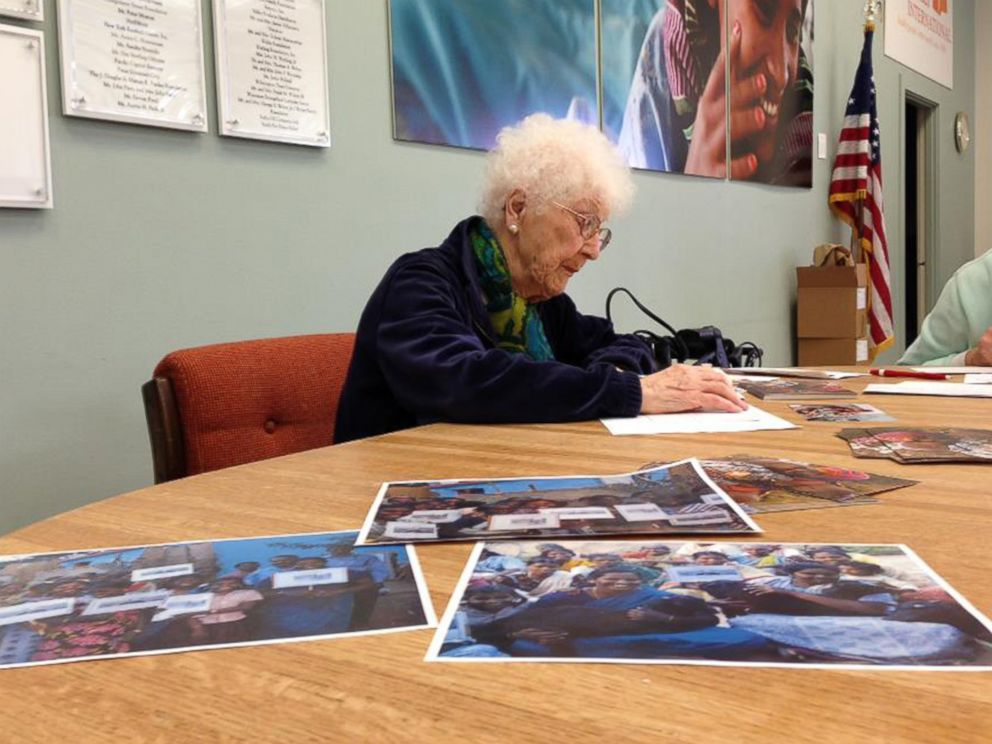 PHOTO: Edythe Kirchmaier volunteers with the charity Direct Relief.