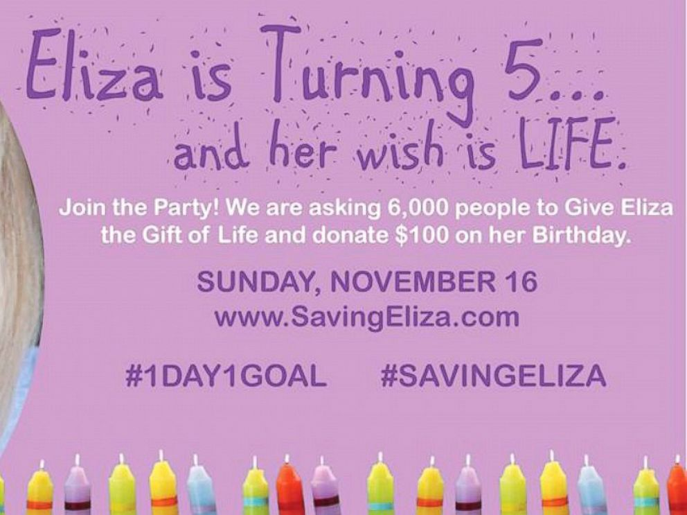 PHOTO: Elizas family launched a campaign to raise money toward a cure.