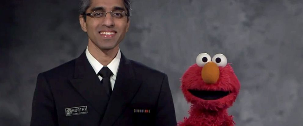 PHOTO: Sesame Streets Elmo and Surgeon General Vivek H. Murthy teamed up for a PSA on vaccinations.