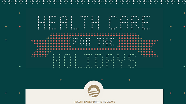 """PHOTO:Holiday themed """"Health Care for the Holidays"""" website"""