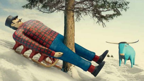 PHOTO: SPaul Bunyan is the face of healthcare in Minnesota, complete with his blue ox.