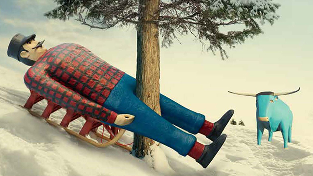 PHOTO: Paul Bunyan is the face of healthcare in Minnesota, complete with his blue ox.