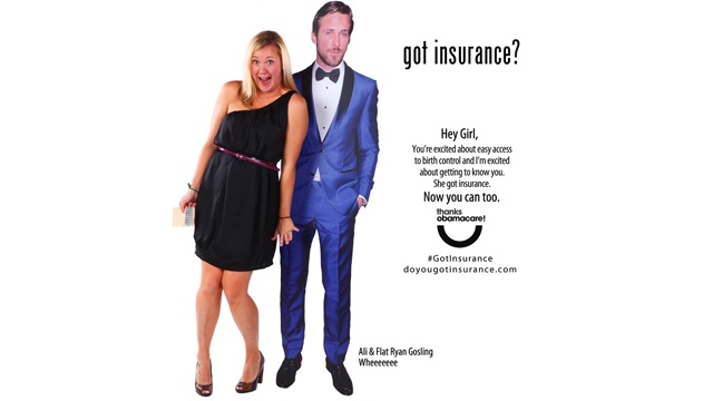 """PHOTO:Ryan Gosling """"Hey Girl"""" Internet meme is used to promote birth control and healthcare in an ad."""
