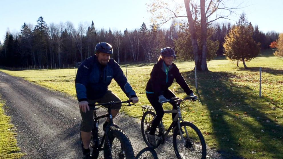 Nurse Kaci Hickox, who recently returned from treating Ebola patients in West Africa, defied demands that she remain in quarantine by going for a bike ride with her boyfriend Ted Wilbur.