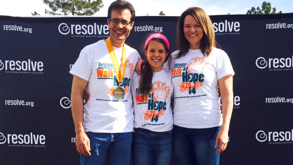 Denny Ceizyk with his wife, Lisa, and daughter, Elliana, at the Resolve Walk of Hope.