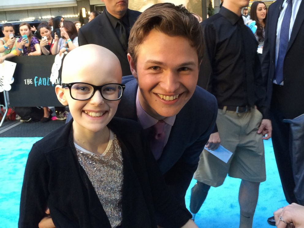 PHOTO: Shred Kids Cancer helped Kaitlin Lehman fulfill her dream to meet the stars of her favorite movie, The Fault in Our Stars.