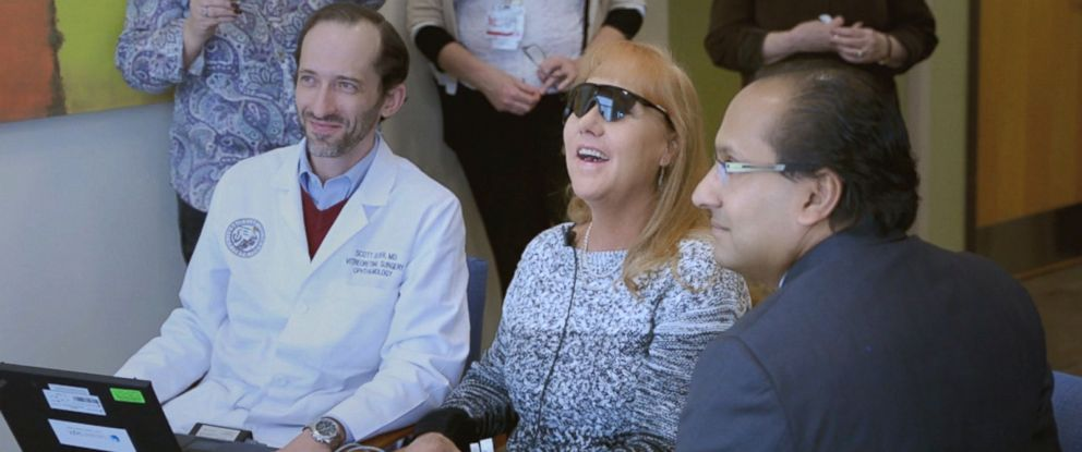 PHOTO: Colorado resident Jamie Carley, who was blind for almost two decades, recently saw her son for the first time after being the first patient in the Denver region to get bionic eye surgery