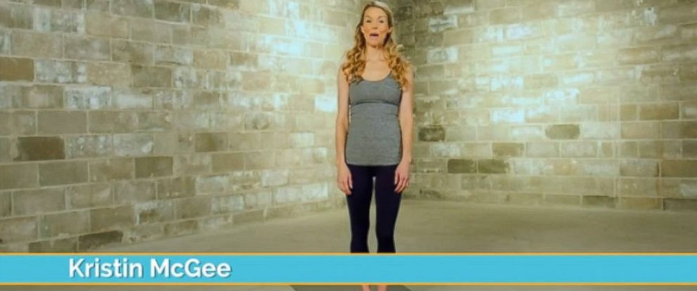 PHOTO: Yoga star Kristin McGee featured in an AcaciaTV fitness video.