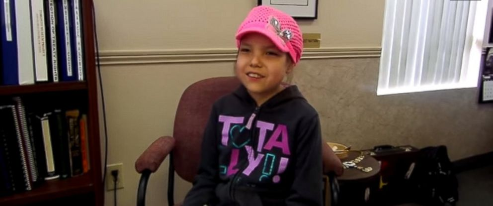 """PHOTO: Makayla Sault, 11, appears in this video posted to YouTube on May 13, 2014 titled, """"Ojibwe child refuses chemo, wants traditional medicine instead."""""""