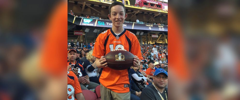 PHOTO: Daniel Hailpern, 16, will announce the Denver Broncos pick in the 2016 NFL Draft through a wish granted by the Make-A-Wish Foundation.