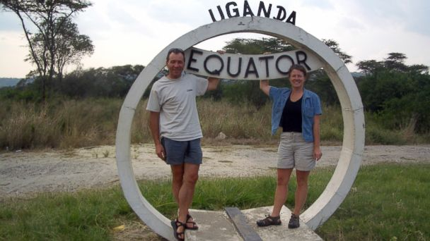 PHOTO: Michelle Barnes poses with her husband in Uganda before coming down with an Ebola-like virus called Marburg.