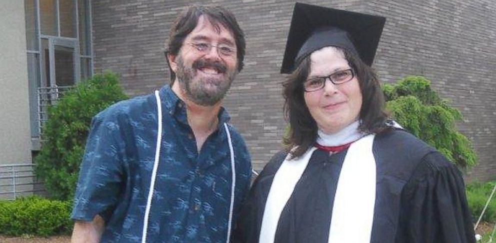 PHOTO: Psychologist Tom G. Hall and Andrea Avigal at her graduation from college