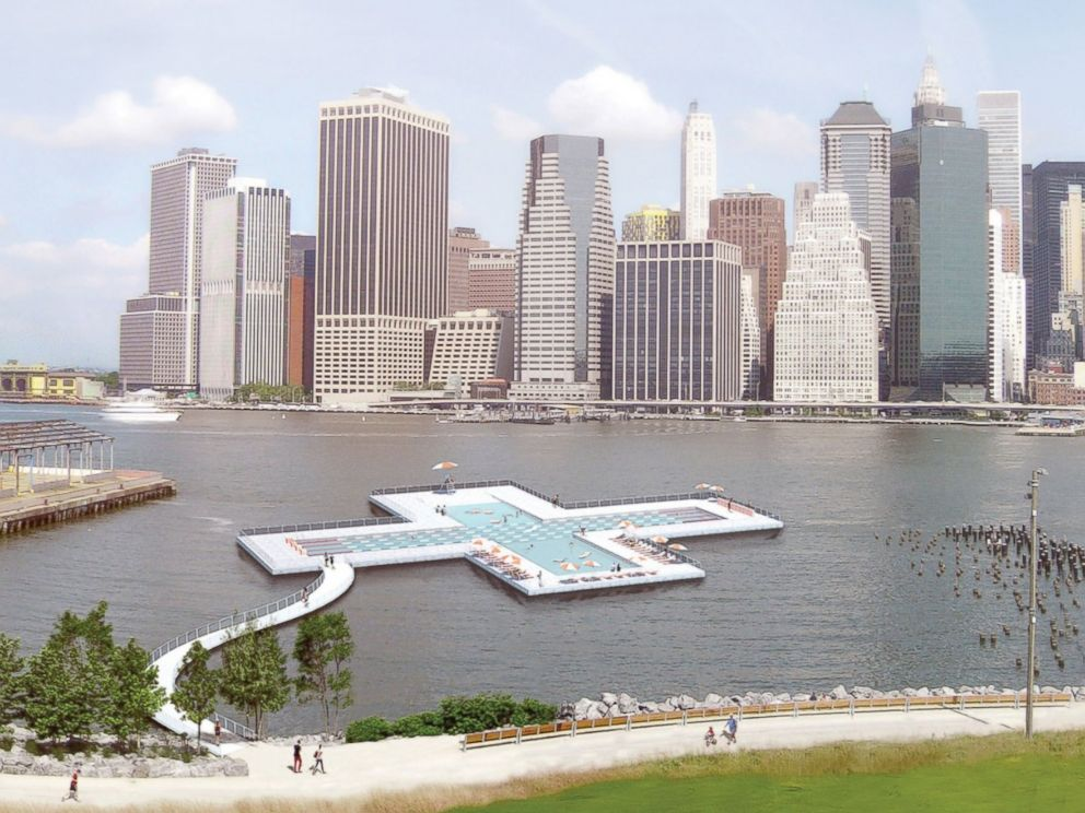 PHOTO: The Plus POOL will filter New York Citys East River to make it swimmable.