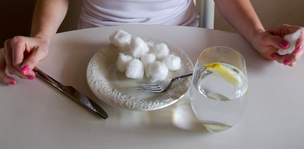 """PHOTO: Someone I once worked with told me about her friend who stayed in a model house in NYC, and apparently all the girls who lived in the house would eat cotton balls to fill themselves up and stay slim."""""""