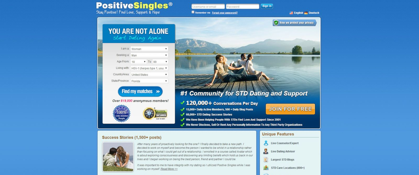 PHOTO: PositiveSingles.com was founded in 2001 to help people with STDs get back into the dating world.
