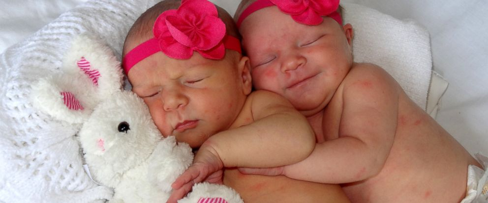 """PHOTO: Sharon and Korey Rademacher decided to surprise their friends and family with """"secret twins"""" when they found out they would be having not one, but two children."""