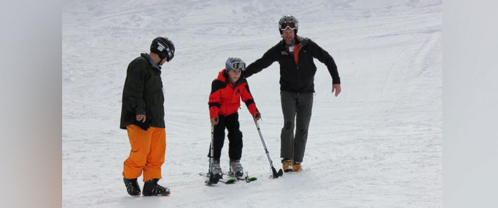 PHOTO: Jacob Wald hit the slopes for the first time since being paralyzed due to a rare disease.