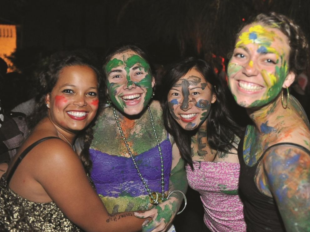 PHOTO: Stanford University students enjoy the annual Full Moon on the Quad event.