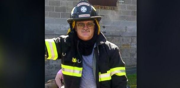PHOTO: Mike Achhammers fire department rang false alarms to get men out of the house on Thanksgiving day.