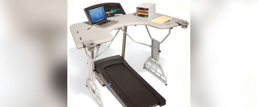 PHOTO: This image shows a Trekdesk treadmill desk.