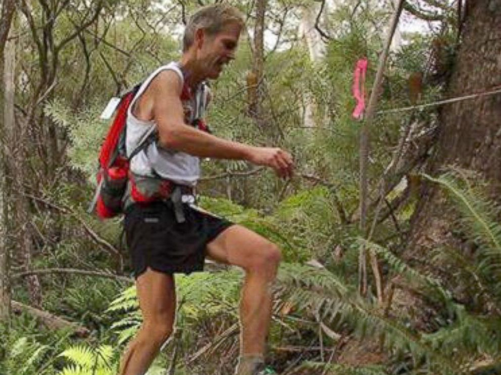 PHOTO: Ultra-marathoner and physician Dr. Martin Hoffman races a 100K trail in Australia in May of 2015.