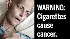 PHOTO graphic cigarette warnings