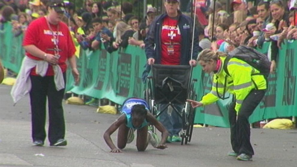 Why Doctors Say Crawling Across The Finish Line Isnt A Great Idea