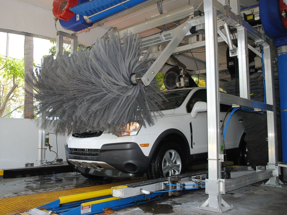 PHOTO: A car gets washed at Rising Tide Car Wash.