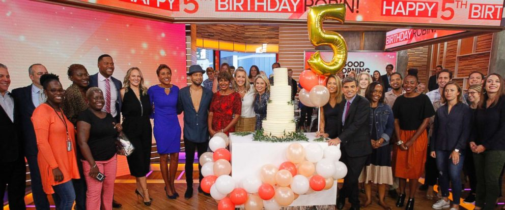 "PHOTO: ""GMA"" co-anchor Robin Roberts is celebrating her fifth ""birthday,"" the anniversary of the day she received a life-saving bone marrow transplant."
