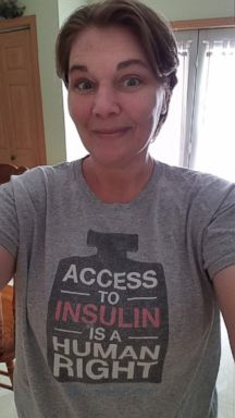 PHOTO: Iowa grandmother Sarah Stock said the price of her live-saving insulin has risen by 300 percent in the past ten years -- from $300 a month to $900 a month. Stock said the rising costs once forced her to ration her medication.