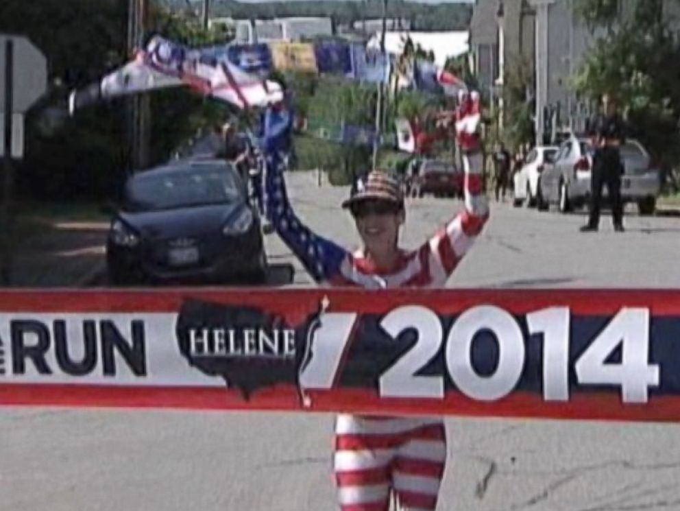 PHOTO: Neville survived four bouts with cancer, but she just ran from Florida to Maine in 68 days.