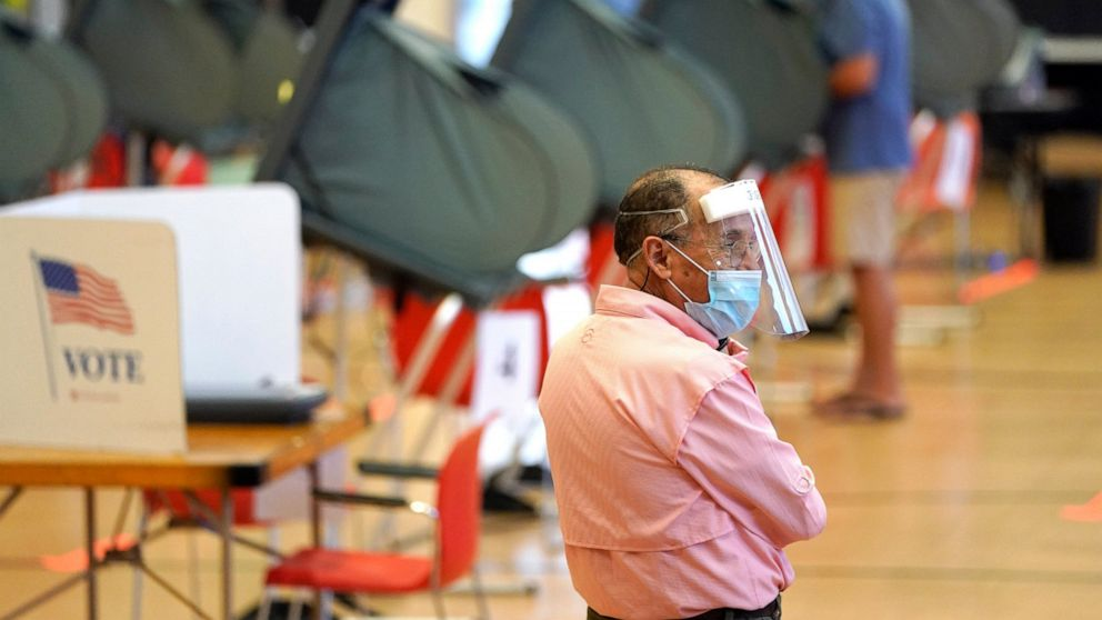 Face shields, gloves, wipes: Texas votes as virus rages