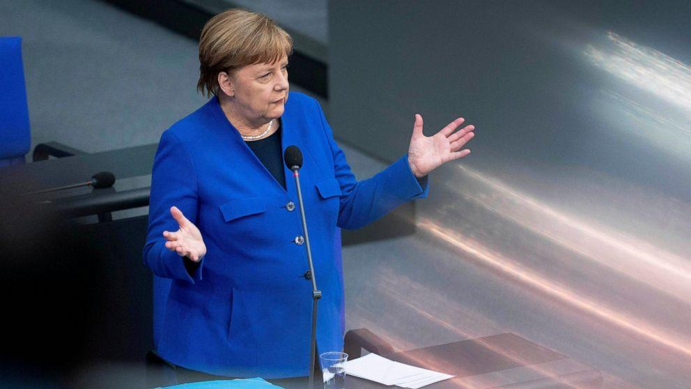 Merkel urges virus vigilance; Germany loosens border checks thumbnail