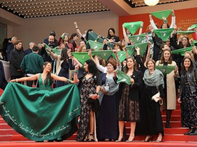 Abortion rights protest held on Cannes Film red carpet