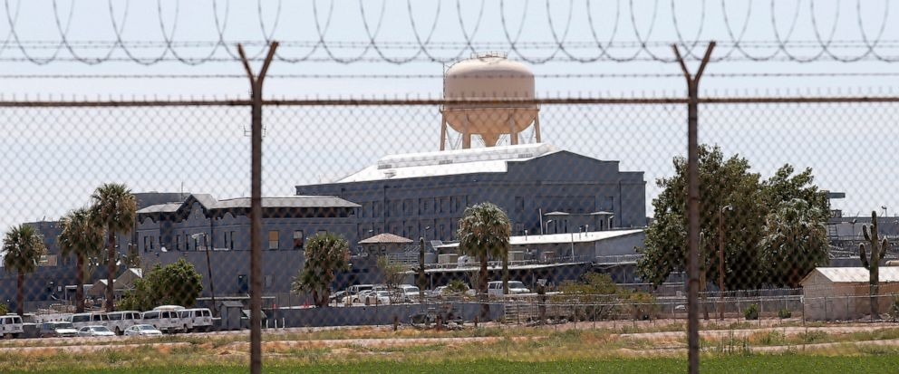 FILE - This July 23, 2014 file photo shows a state prison in Florence, Ariz. In May 2019, Corizon Health Inc. and Corizon LLC that provide health care in jails and prisons across the United States, including this one in Florence, have agreed to pay $