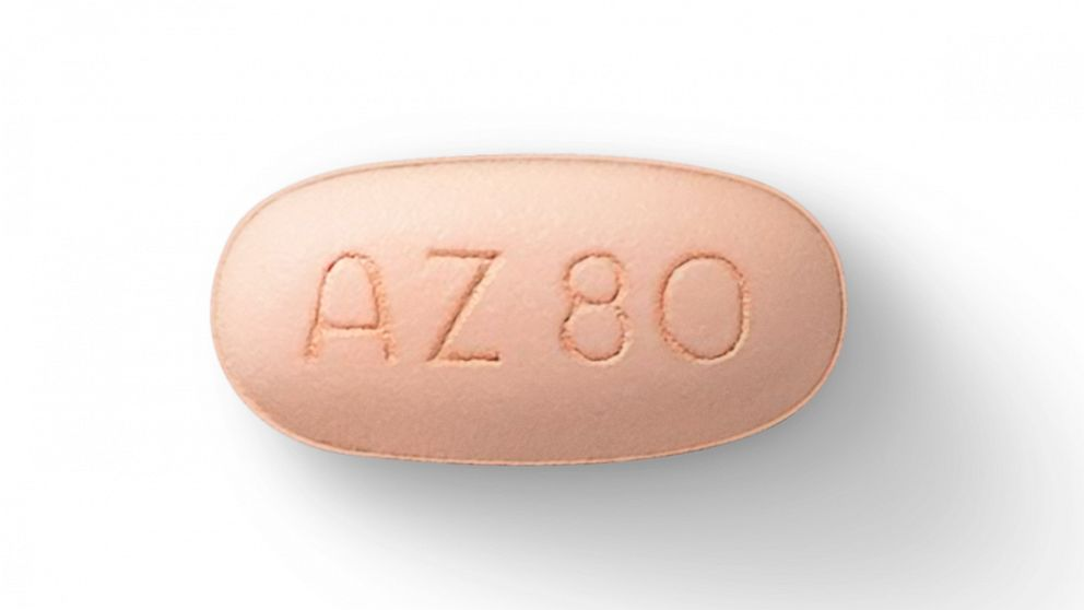 This image provided by AstraZeneca in May 2020 shows a pill of the medication Tagrisso made by the company. Tagrisso is approved for treating advanced lung cancer, and 'the excitement now is moving this earlier' before the disease has widely spread, said Dr. Roy Herbst of the Yale Cancer Center, who has consulted for the drug's maker. (AstraZeneca via AP) The Associated Press